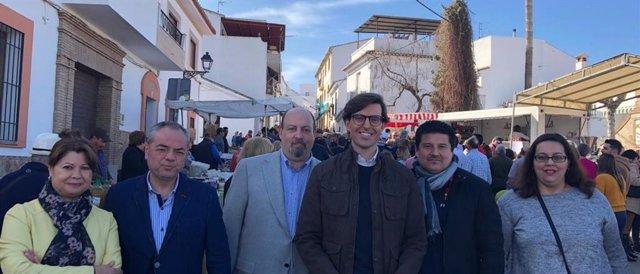 El vicesecretario de Comunicación del PP, Pablo Montesinos, en Ardales (Málaga), pide el apoyo a la candidatura del Caminito del Rey como Patrimonio de la Unesco