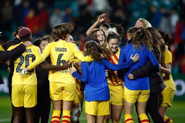 Las jugadoras del FC Barcelona femenino