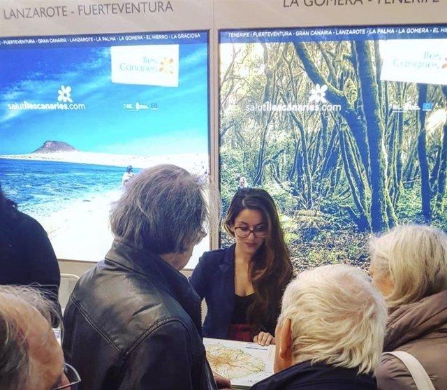 Delegación de La Gomera en el Salon des Vacances de Bruselas