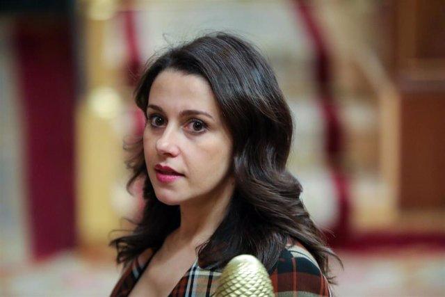 La portavoz de Ciudadanos (Cs) en el Congreso de los Diputados, Inés Arrimadas, en una imagen de archivo