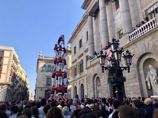 Diada castellera de Santa Eulàlia de Barcelona