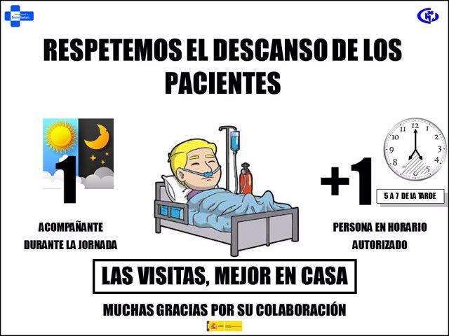 Melilla limita las visitas al hospital.