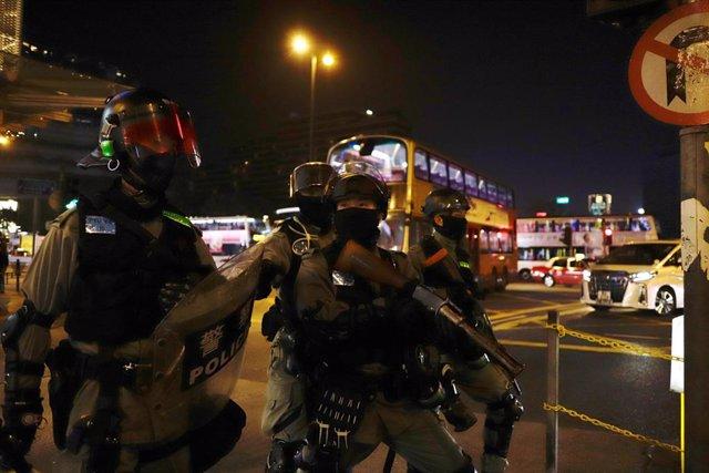 Imatge d'una protesta a Hong Kong.
