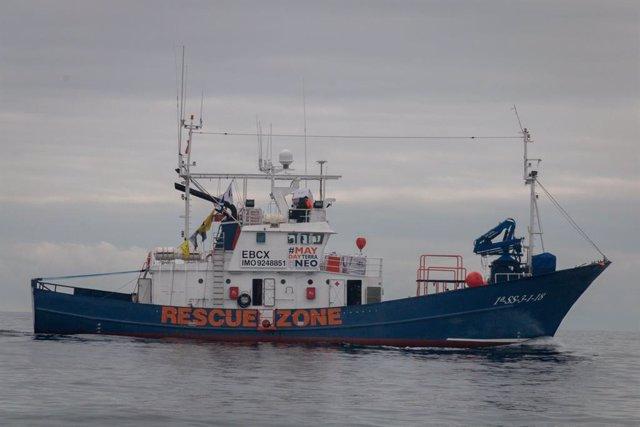 El vaixell d'ajuda humanitària 'Aita Mari'