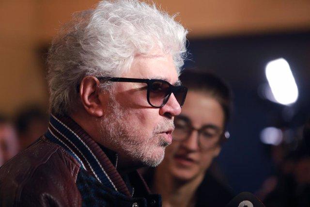 El director Pedro Almodóvar durant la lectura de la llista de nominats a la 34a edició dels Premis Goya 2020.
