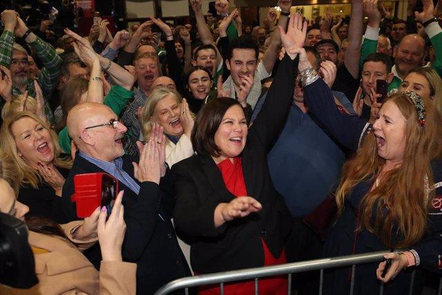 La líder del Sinn Féin, Mary Lou McDonald