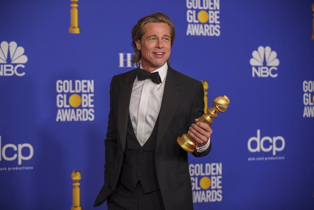 January 5, 2019 - Beverly Hills, California, United States: Brad Pitt in the photo deadline room at the 77th Golden Globe Awards at the Beverly Hilton on January 05, 2020  (Allen J. Schaben / Los Angeles Times / Contacto)