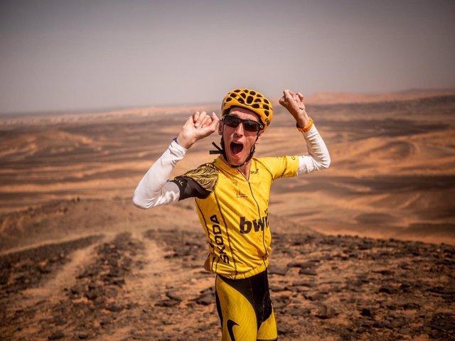 Alex Roca, atleta con paralisis cerebra