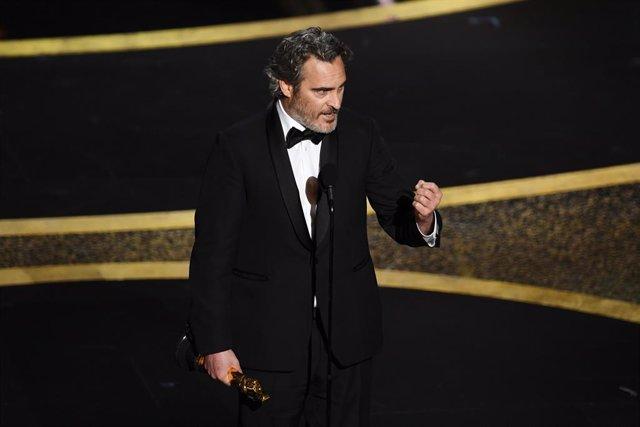 Joaquin Phoenix durante la gala de los Oscar
