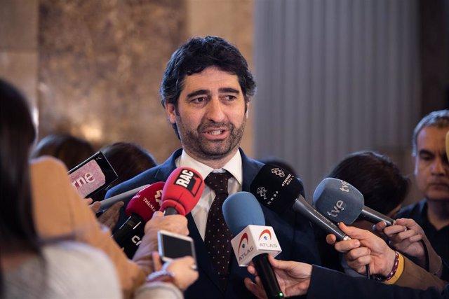 El conseller de Política Digital i Administració Pública, Jordi Puigneró, després de la sessió plenària del Parlament de Catalunya, Barcelona (Catalunya/Espanya), 5 de febrer del 2020.