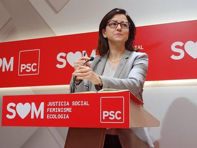 La portaveu del PSC al Parlament, Eva Granados (PSC).
