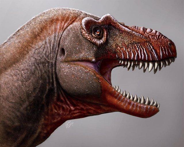 Nueva especie de dinosaurio supredepradador identificada en Canadá