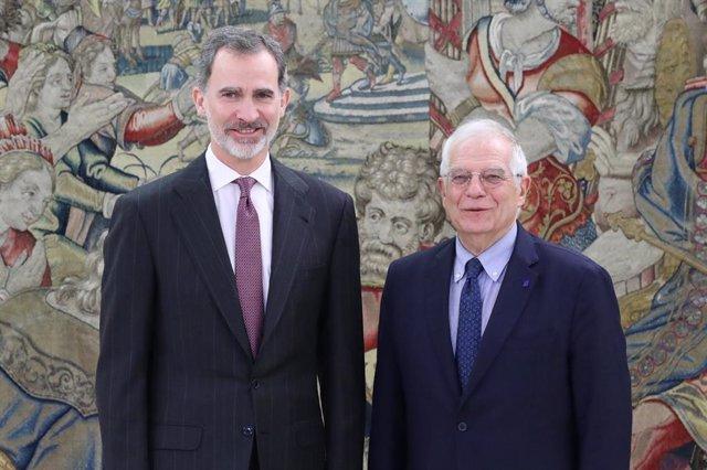 El Rey recibe a Josep Borrell, ex ministro y hoy alto representante de la UE par