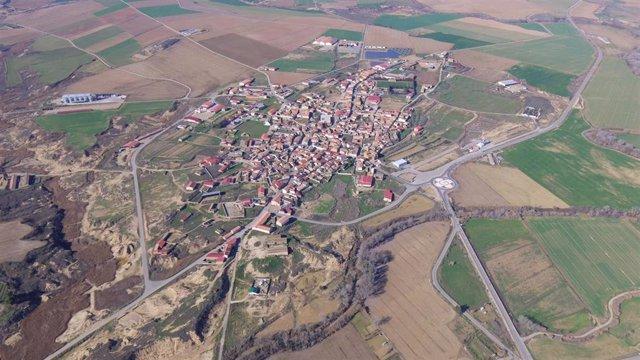 Vista aérea de Lalueza.