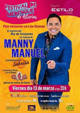 El cantante puertorriqueño Manny Manuel estará en el I Festival de Merengue de A