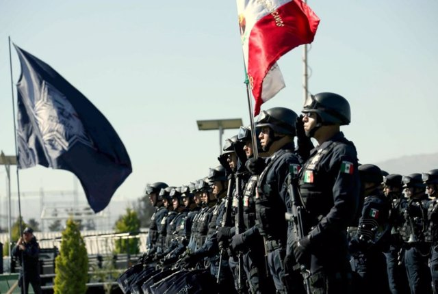 Agentes de la Policía Federal de México, uno de los cuerpos de seguridad más utilizados para el combate contra grupos del narcotráfico.