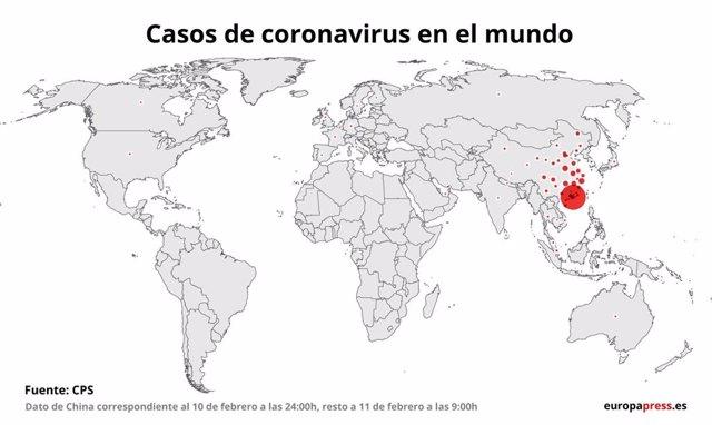 Casos de coronavirus por países