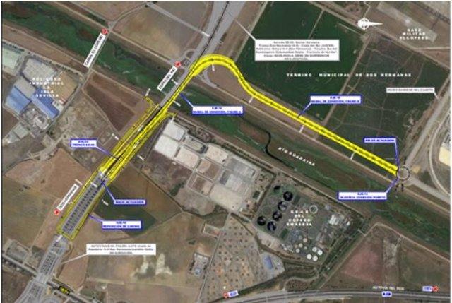 Conexiones provisionales necesarias para la sustitución de los tirantes del Puente del Centenario en Sevilla