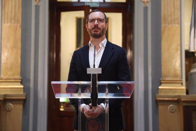 El portavoz del Partido Popular en el Senado, Javier Maroto.