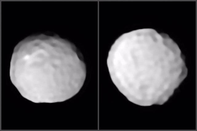 Pallas, el asteroide pelota de golf esculpido a impactos