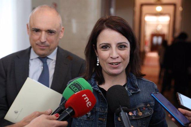 La portaveu del Grup Socialista al Congrés dels Diputats, Adriana Lastra, Madrid (Espanya) 4 de febrer del 2020.