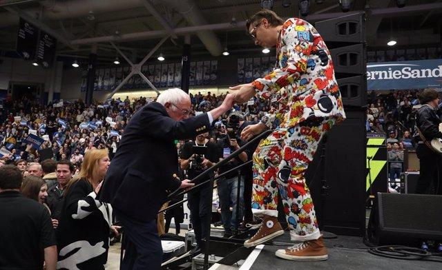 Presidential Candidate Bernie Sanders Campaigns In NH Ahead Of Primary