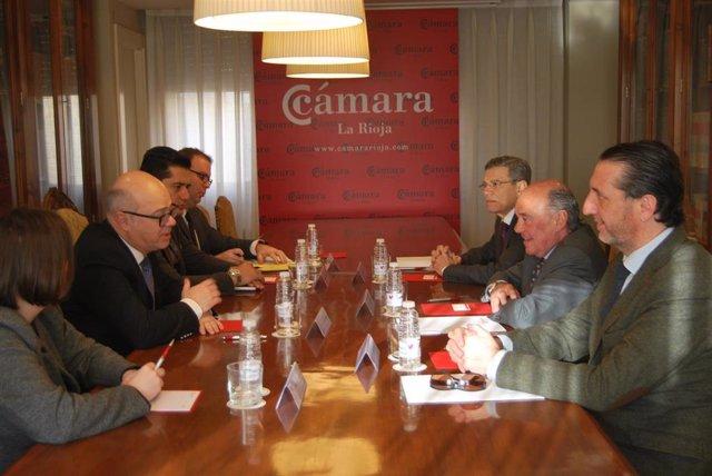 Encuentro del Embajador de Turquía con  la Cámara de Comercio, Industria y Servicios de La Rioja