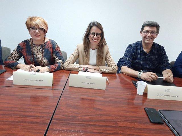 La alcaldesa de Ayamonte, Natalia Santos, preside la comisión de la Comisión de Función Pública y Recursos Humanos de la FAMP