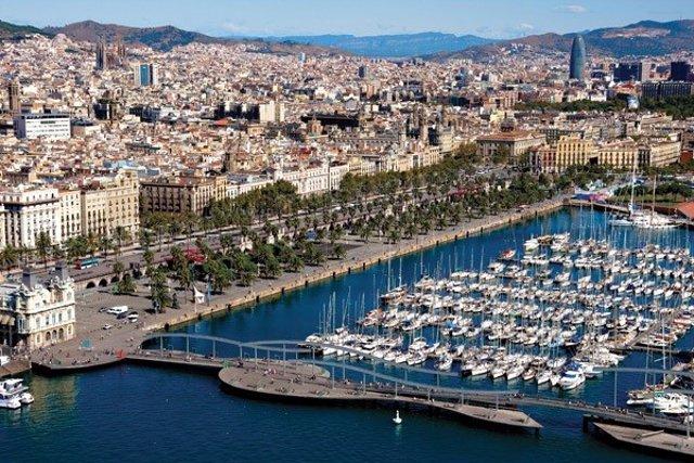 Vista aèria de Barcelona (Catalunya)