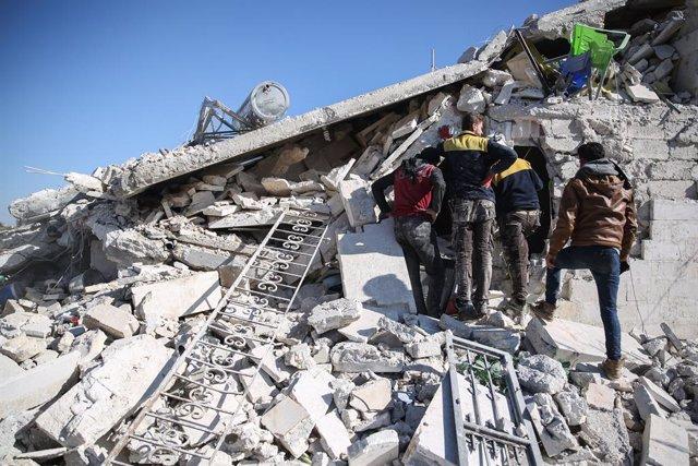 Siria.- Mueren doce personas en una serie de bombardeos del Ejército sirio contr