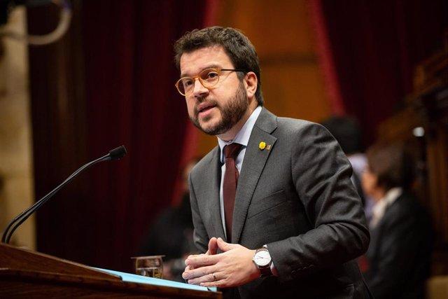 Intervención del vicepresidente Pere Aragonès en el pleno del Parlament