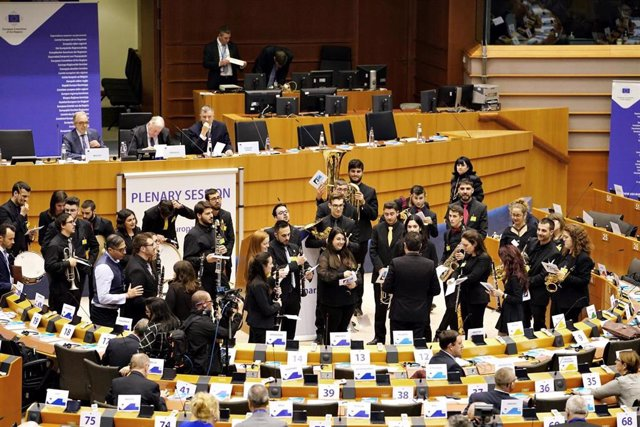 La Joven Banda Sinfónica de la FSMCV en el Parlamento Europeo
