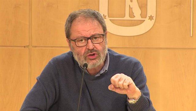 Imagen de recurso del concejal de Más Madrid en el Ayuntamiento de la capital, Javier Barbero.