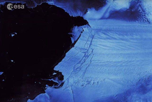 Nuevo iceberg en el glaciar Pine Island