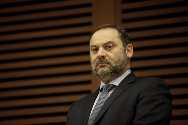 El ministro de Transportes, Movilidad y Agenda Urbana, José Luis Ábalos, durante la IV Jornada Internacional Ferroviaria 'Basque Railway 2020', en San Sebastián /Euskadi (España), a 22 de enero de 2020.