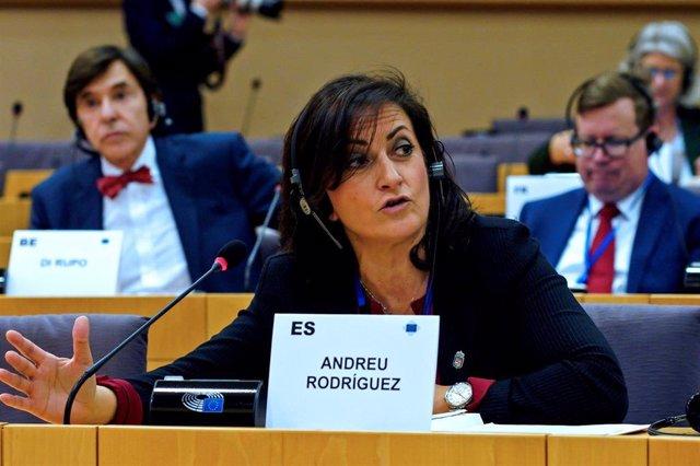 La presidenta del Gobierno de La RIoja,Concha Andreu, nombrada vicepresidenta del Grupo Socialista en el Comité de las Regiones