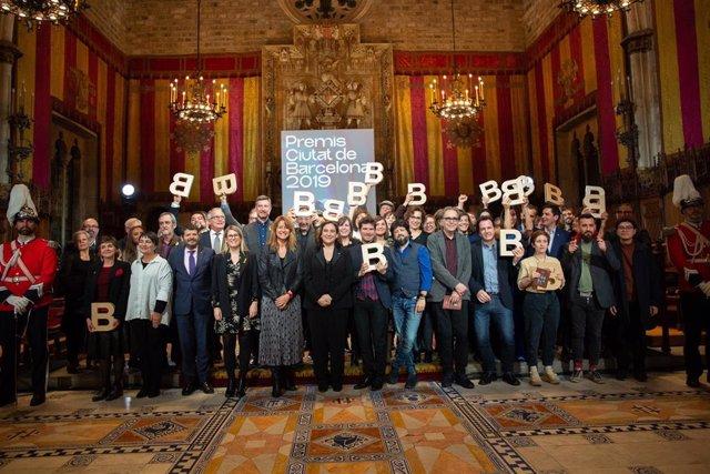 Entrega de los Premis Ciutat Barcelona 2019