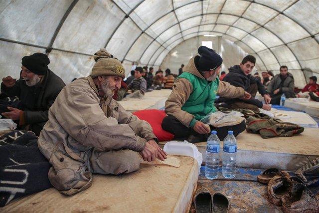 Desplazados internos en la provincia de Idlib, en el noroeste de Siria