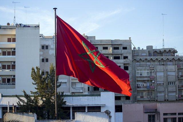 Bandera de Marruecos.