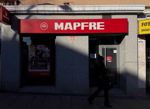 Local de Mapfre visto desde el exterior en Madrid a 9 de enero de 2020