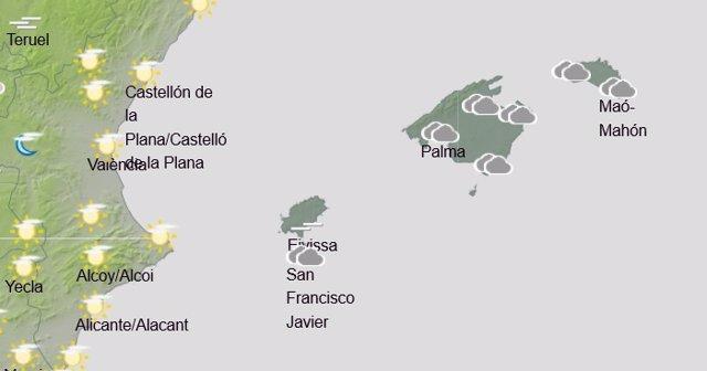 El tiempo en Baleares hoy, 12 de febrero de 2020.