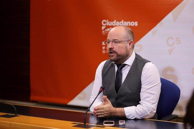 El presidente del Grupo Parlamentario Ciudadanos en las Cortes de C-LM, Alejandro Ruiz