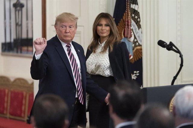 El president dels Estats Units, Donald Trump, i la primera dama, Melania Trump.