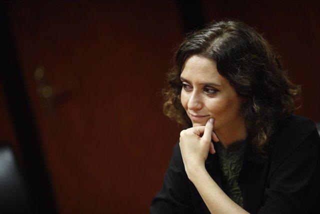 Isabel Díaz Ayuso, presidenta de la Comunidad de Madrid. Imagen de archivo
