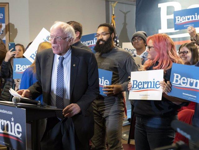 8 de febrer del 2020 - Nou Hampshire (Estats Units): el candidat demòcrata a la nominació presidencial, Bernie Sanders. ( Rick Friedman/Contacte)