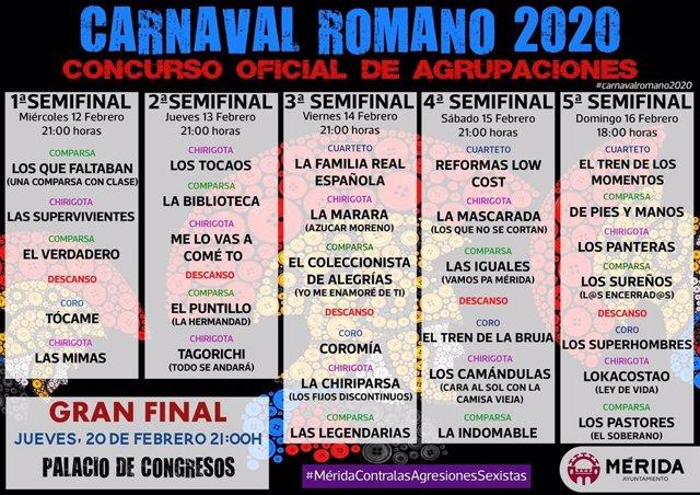 Concurso Oficial de Agrupaciones del Carnaval Romano de Mérida 2020