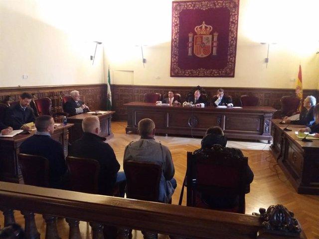 Imagen de la celebración de la vista en el TSJA sobre el recurso a la sentencia del asesinato de Lucía Garrido