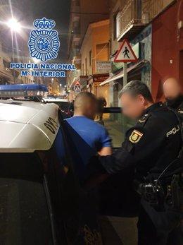 Imagen de uno de los detenidos por la Policía Nacional