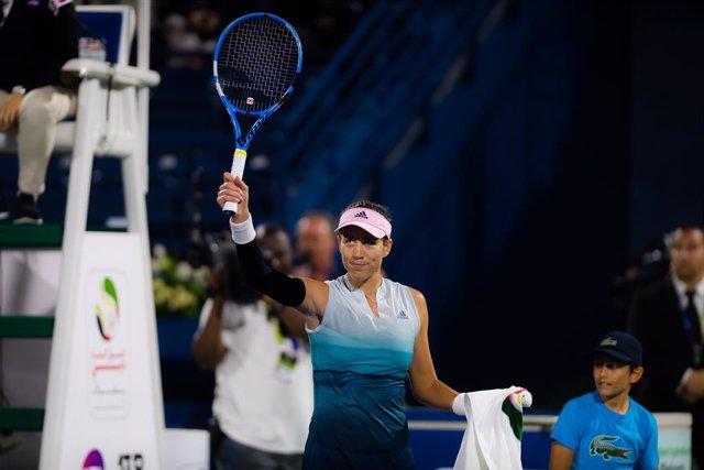 Tenis.- Garbiñe Muguruza acepta una invitación para jugar el torneo de Dubai de