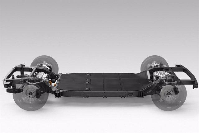 Imagen de una plataforma de un vehículo de Canoo.